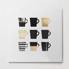 Coffee Mugs Metal Print