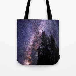 Celestial Starlight in the Forest Near  Lake Irene Colorado by OLena Art - brand Tote Bag