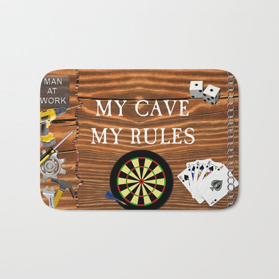 Man Cave Bath Mat