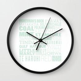 Hibiscus Coast V8 Wall Clock