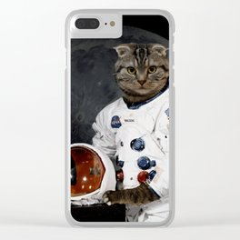 Astro Cat Clear iPhone Case