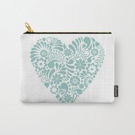 Heart shape maori koru flower abstract design Carry-All Pouch
