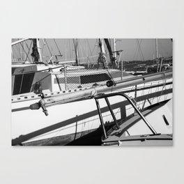 On the harbor, Le Touquet Canvas Print