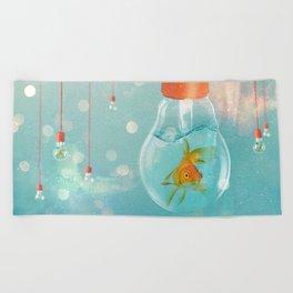 Ideas and Goldfish ... Beach Towel
