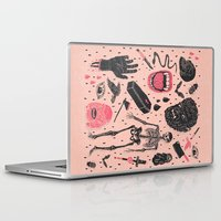 dark Laptop & iPad Skins featuring Whole Lotta Horror by Josh Ln