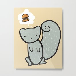 A Hungry Squirrel Metal Print