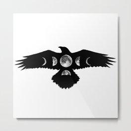 Celestial Crow Metal Print