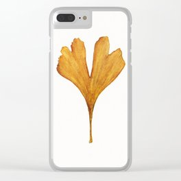 Three Ginkgo Leaves Clear iPhone Case