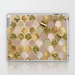 Rose gold glittering mermaid scales Laptop & iPad Skin