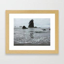 Coastal Islands, 2nd Beach, Olympic National Park, La Push, Washington Framed Art Print