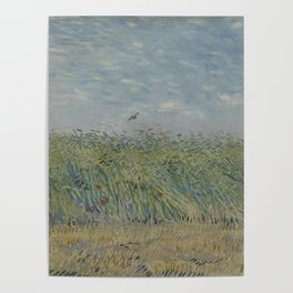 Wheatfield with Partridge Poster