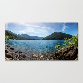 Lake Crescent Olympic Mountain Pano Canvas Print