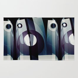 Modern abstract with geometric shapes Rug