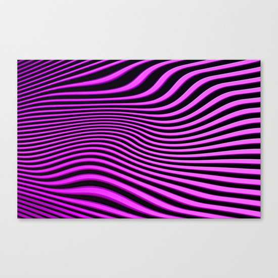 Stripes in Pink Canvas Print