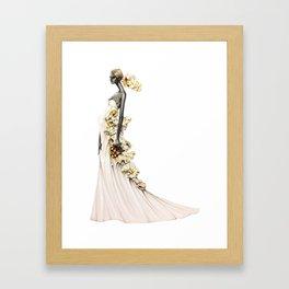 Bride in Buttered Popcorn Framed Art Print