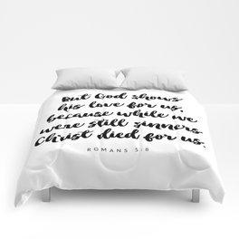 Romans 5:8 - Bible Verse Comforters