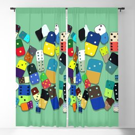 Domino Pattern Blackout Curtain