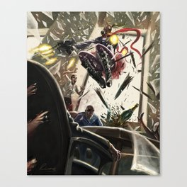 The Red Scarf Rampage Canvas Print