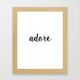 J'adore, Typography Printable Poster 8x10, Downloadable, Art Room Decor, Digital File Framed Art Print