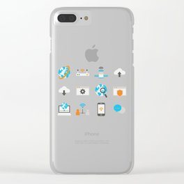 Internet Communication Clear iPhone Case