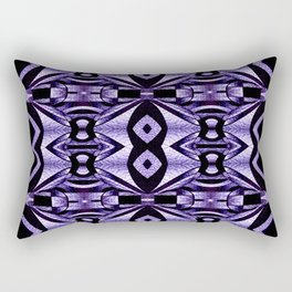 Stained Glass Collection V Lilac Levitations Rectangular Pillow