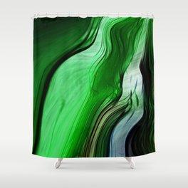 Liquid Grass Shower Curtain