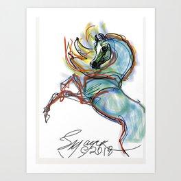 Dreamer's Horse Art Print