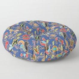Sarong Kebaya Batik Blue Floor Pillow