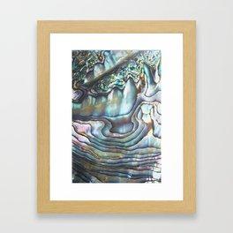 Shimmery Pastel Abalone Shell Framed Art Print