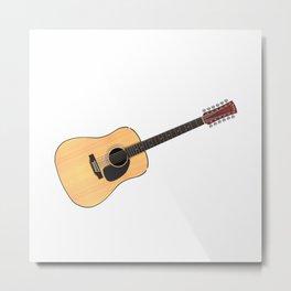 12 String Acoustic Guitar Metal Print