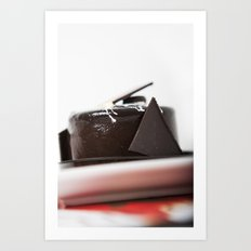chocolate mouse cake Art Print