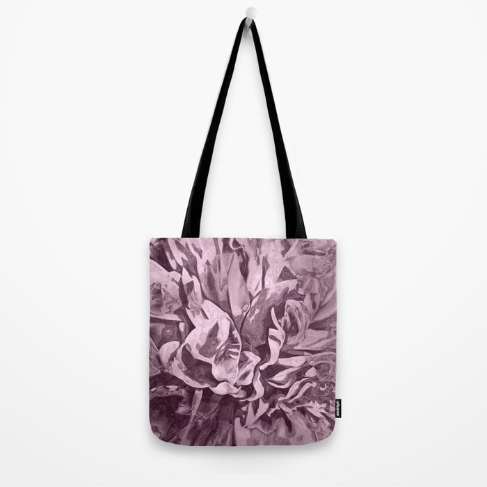 Sepia Pink Painted Peony Tote Bag