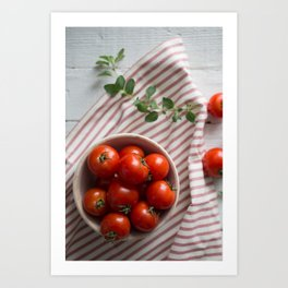 Summer Tomatoes Art Print