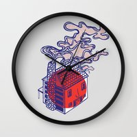 cabin Wall Clocks featuring Cabin by Devin Soisson