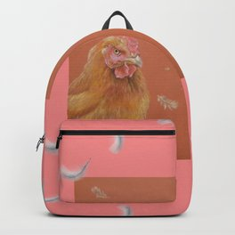 Rooster and Hen Valentine's Day for bird lover Backpack