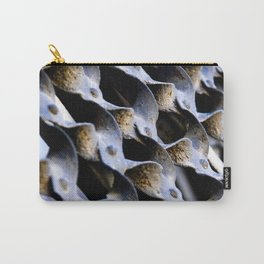 Abstract Metal Weave Pattern Photograph Carry-All Pouch