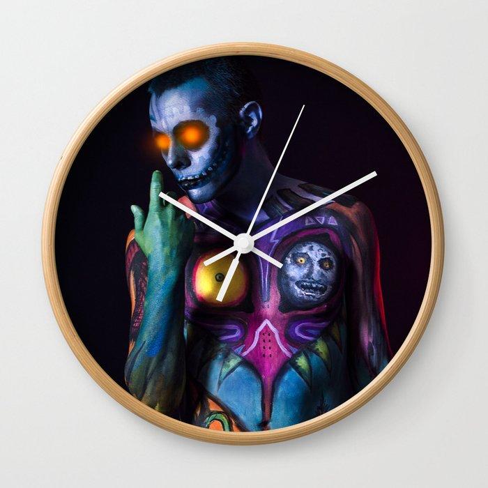Skull Kid Wall Clock By Abbm Society6