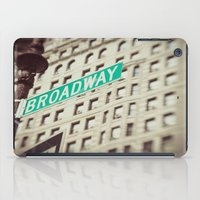 broadway iPad Cases featuring Broadway  by Carmen Moreno Photography