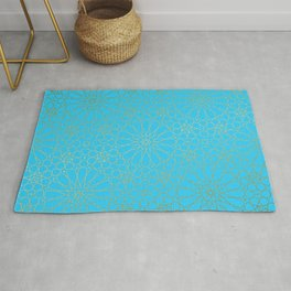 Moroccan Nights - Gold Teal Mandala Pattern - Mix & Match with Simplicity of Life Rug