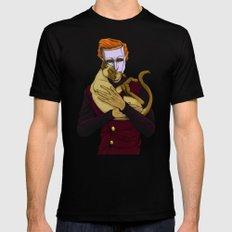Erik & Siamese Cat 2X-LARGE Black Mens Fitted Tee
