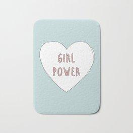 Girl power heart illustration - Girl Gang Prints Bath Mat