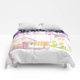 """""""Rosemont"""" / Frontier Ruckus Song Illustrations, Series 1 (15/15) Comforters"""