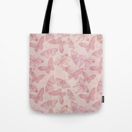 Butterfly Pattern soft pink pastel Tote Bag