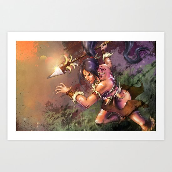 The Bestial Huntress Art Print