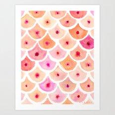BEWBS Boobs Scale Pattern Art Print