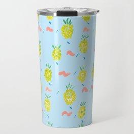 Pineapples Squiggle Travel Mug