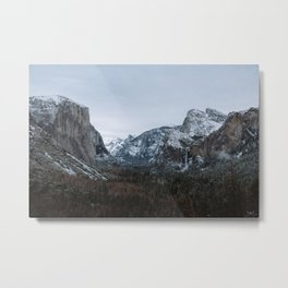 Snow in Yosemite Valley Metal Print