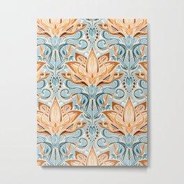 Autumn Afternoon Art Nouveau Metal Print