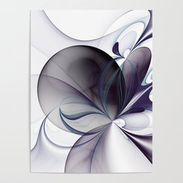 Easiness, Abstract Modern Fractal Art Poster