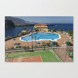 Vacation Postcard Canvas Print